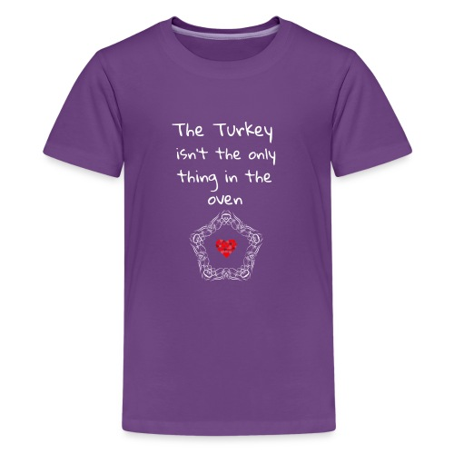 Baby Pregnancy Announcement and Thanksgiving Shir - Kids' Premium T-Shirt