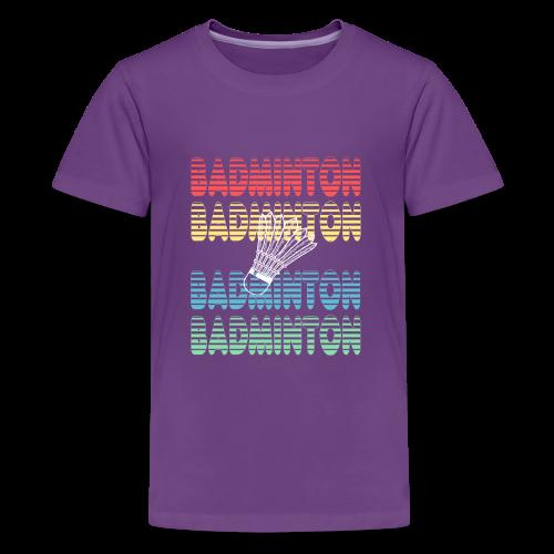 badminton sport player gift birthday items - Kids' Premium T-Shirt