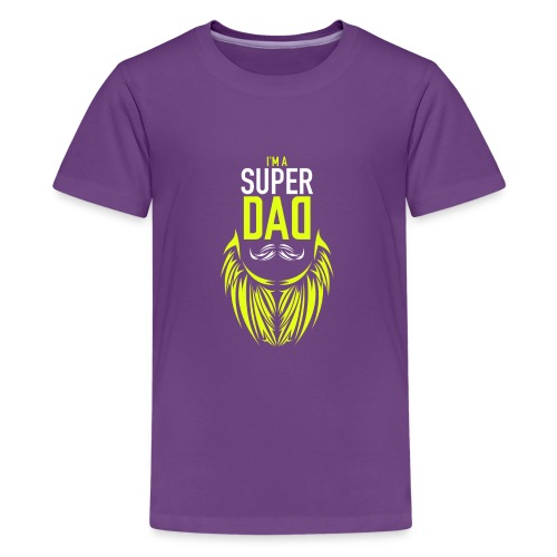 I am a super dad t shirt birthday gift father and - Kids' Premium T-Shirt