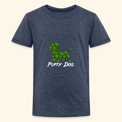 PUFFY DOG - PRESENT FOR SMOKING DOGLOVER - Kids' Premium T-Shirt