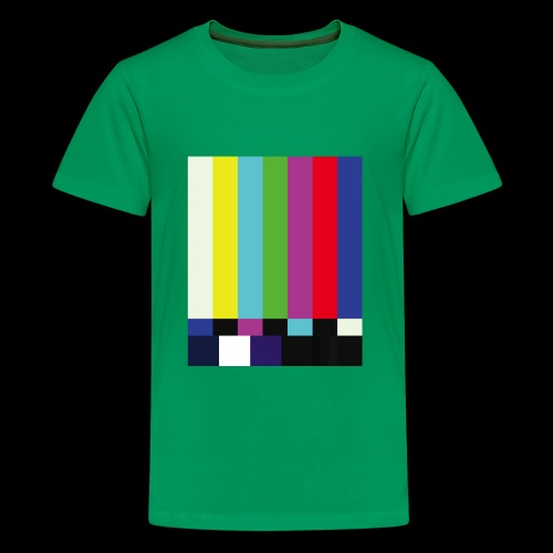 This is a TV Test | Retro Television Broadcast - Kids' Premium T-Shirt