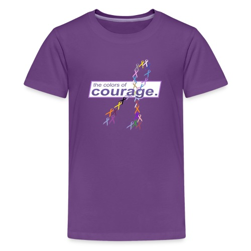The Colors of Courage Cancer Awareness Ribbons - Kids' Premium T-Shirt