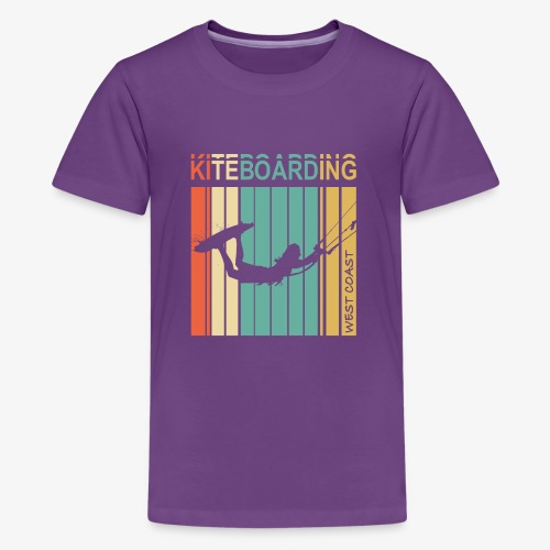 Kiteboarding WEST COAST - Kids' Premium T-Shirt