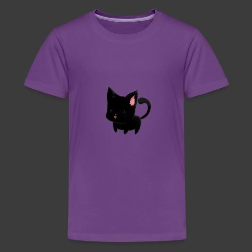 black cat hoodie - Kids' Premium T-Shirt