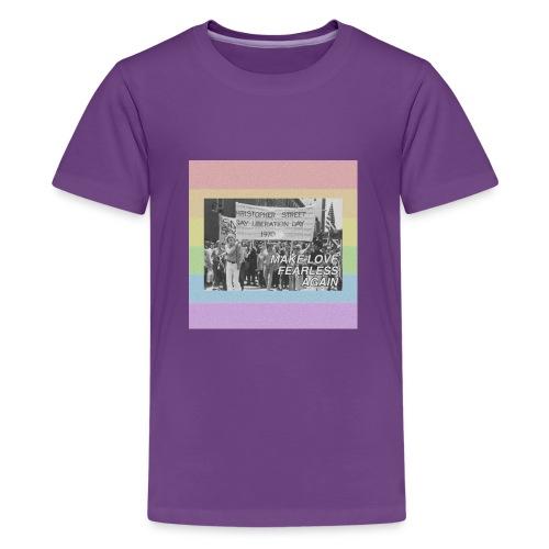 make love fearless again pins - Kids' Premium T-Shirt