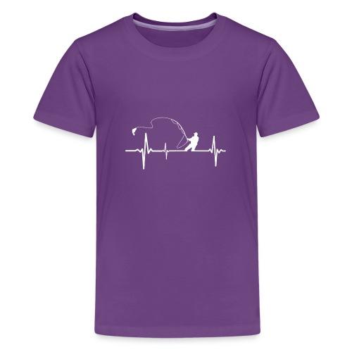 Fishing Heartbeat Funny - Kids' Premium T-Shirt
