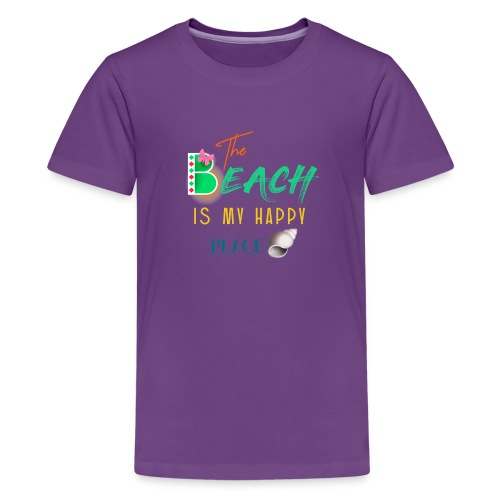 The beach is my happy place - Kids' Premium T-Shirt