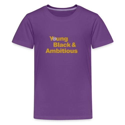 YBA Black and Gold Shirt2 - Kids' Premium T-Shirt