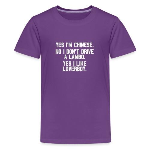 Yes i'm Chinese #2 - Kids' Premium T-Shirt