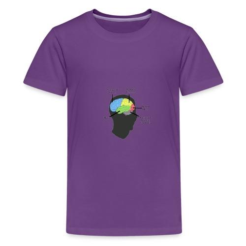 Corbin YT brain diagram - Kids' Premium T-Shirt