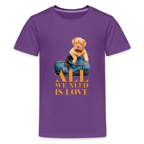 Cute Puppy Dog Love Collection - Kids' Premium T-Shirt