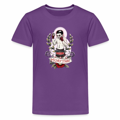 muay thai fighter - Kids' Premium T-Shirt