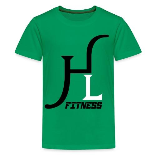 HIIT Life Fitness logo white - Kids' Premium T-Shirt