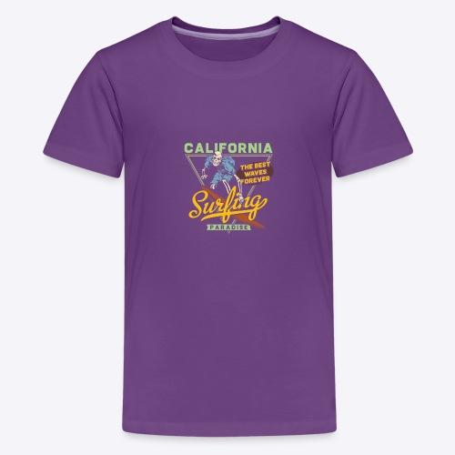 California Surfing Paradise - Kids' Premium T-Shirt