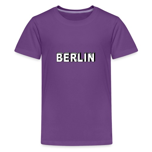 BERLIN Block Letters - Kids' Premium T-Shirt