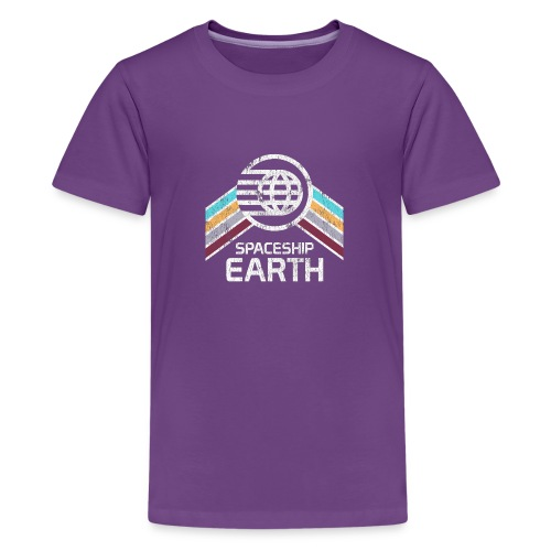 Earth with Distressed Logo - Kids' Premium T-Shirt
