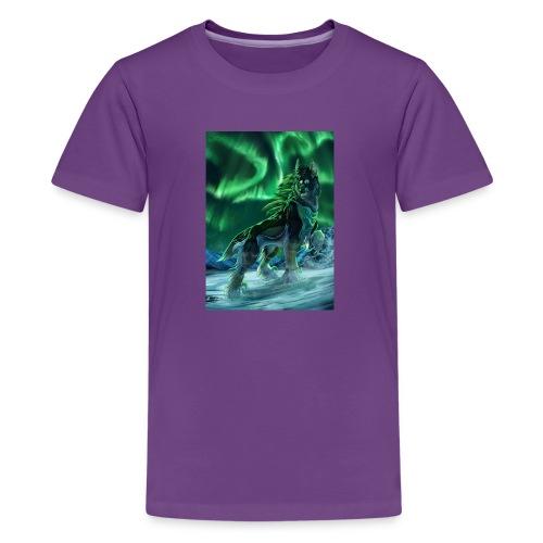 Painting Art Wolves Aurora 535561 736x1024 - Kids' Premium T-Shirt