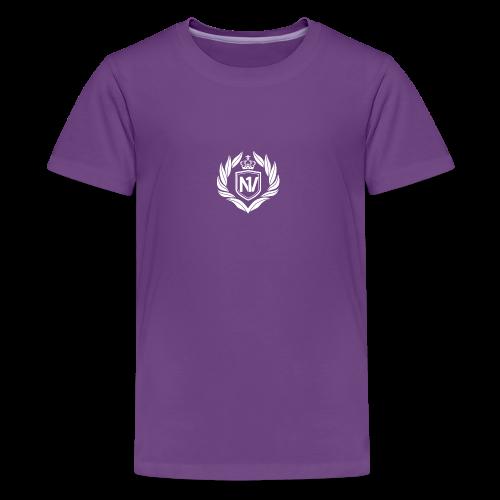 Number One Village Logo White - Kids' Premium T-Shirt