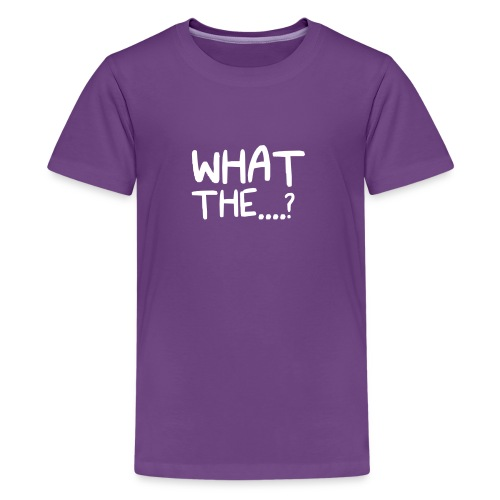 What The....? Cool Logo Design T-Shirt - Kids' Premium T-Shirt