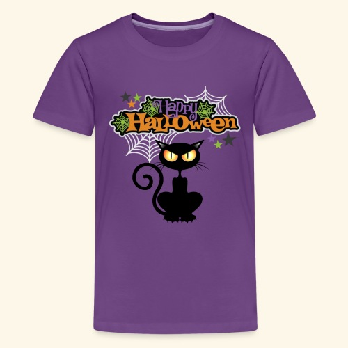 happy holloween BLACCK CAT TEE - Kids' Premium T-Shirt