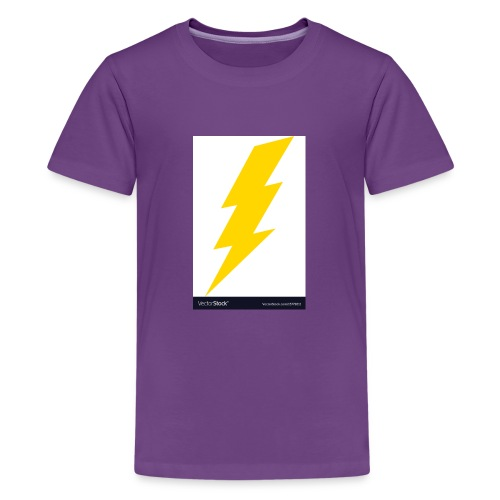 electric lightning bolt vector 15779011 - Kids' Premium T-Shirt