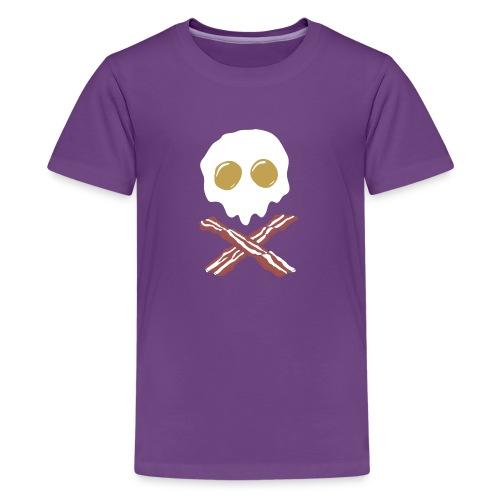 Breakfast Skull - Kids' Premium T-Shirt