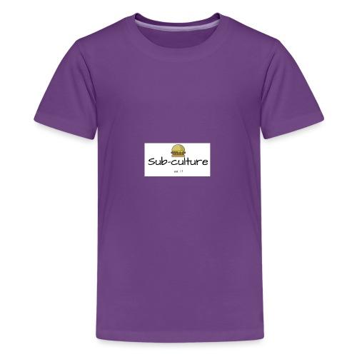Sub-culture burger logo - Kids' Premium T-Shirt
