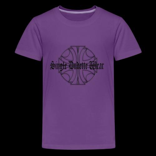 SDW maltese old letters dudette - Kids' Premium T-Shirt