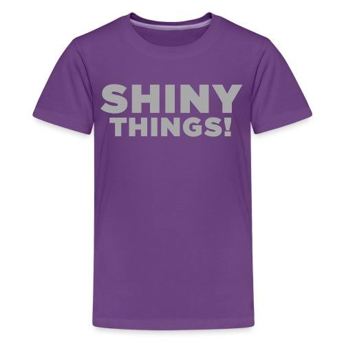 Shiny Things. Funny ADHD Quote - Kids' Premium T-Shirt