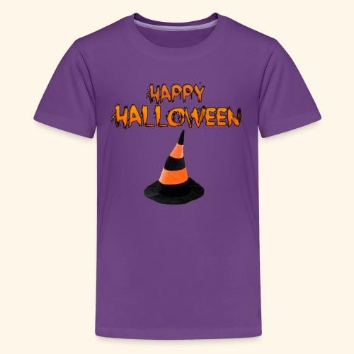 HAPPY HALLOWEEN WITCH HAT TEE - Kids' Premium T-Shirt