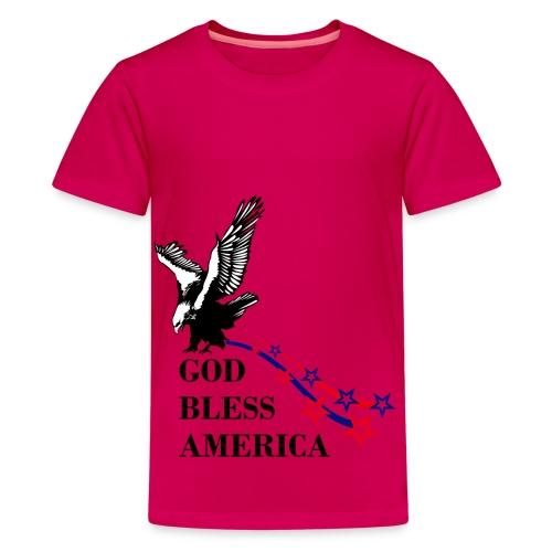 CUSTOM DESIGN GOD BLESS AMERICA - Kids' Premium T-Shirt