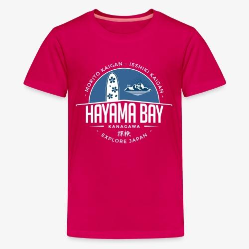 Hayama Bay Blue Scape - Kids' Premium T-Shirt