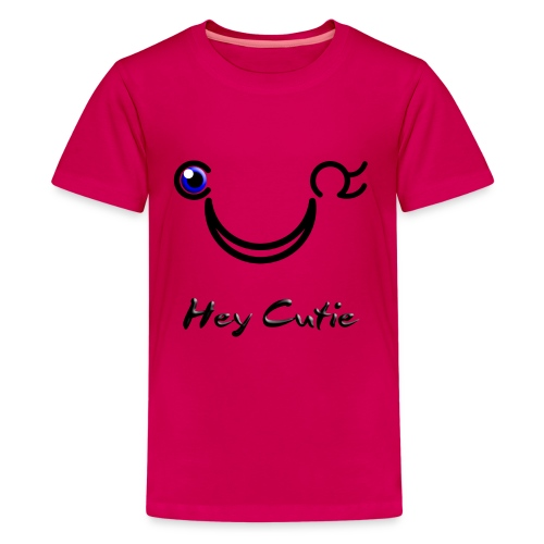 Hey Cutie Blue Eye Wink - Kids' Premium T-Shirt