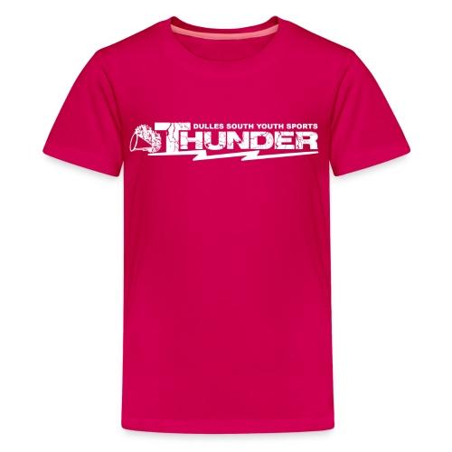 DSYS Cheer Logo Transparent White - Kids' Premium T-Shirt