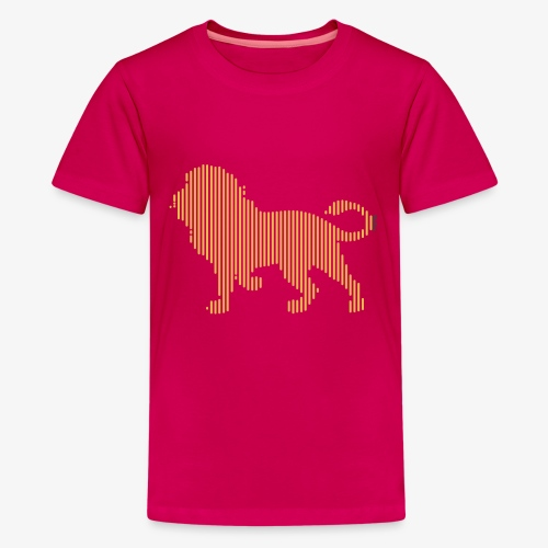 Lion Line Art - Kids' Premium T-Shirt