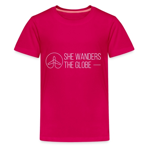 She Wanders the Globe - Kids' Premium T-Shirt