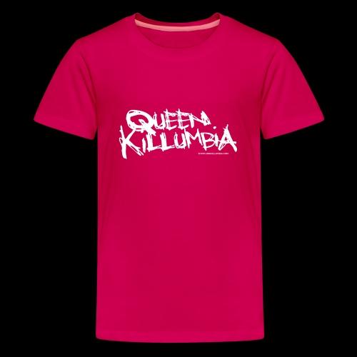 Queen Killumbia - White Logo - Kids' Premium T-Shirt