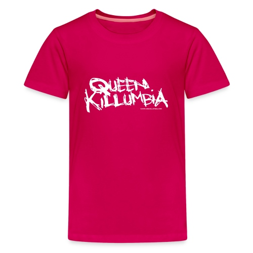 Queen Killumbia - White Logo - Kids' Premium T-Shirt