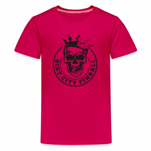 Dirt City Pinball Black/White Logo - Kids' Premium T-Shirt