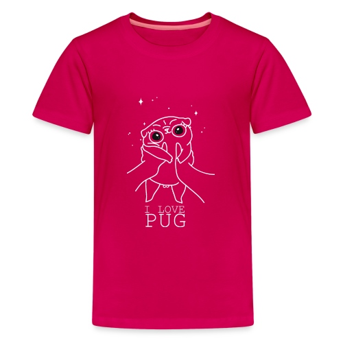 I love Pug - Kids' Premium T-Shirt