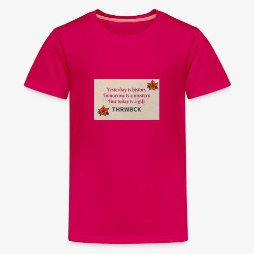 THRWBCK quote - Kids' Premium T-Shirt