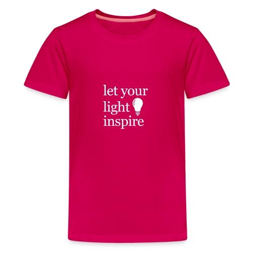 Let Your Light Inspire Tee (white font) - Kids' Premium T-Shirt