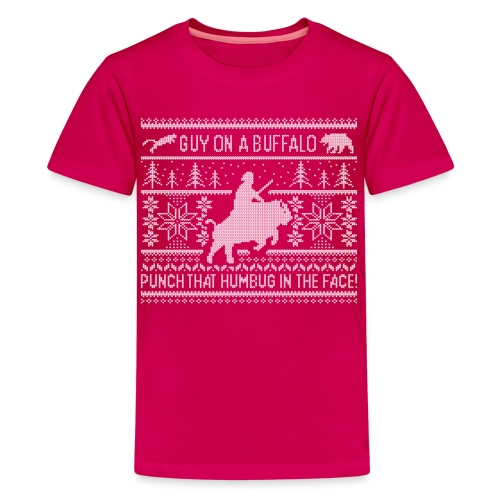 Guy on a Buffalo X-mas 17 - Kids' Premium T-Shirt