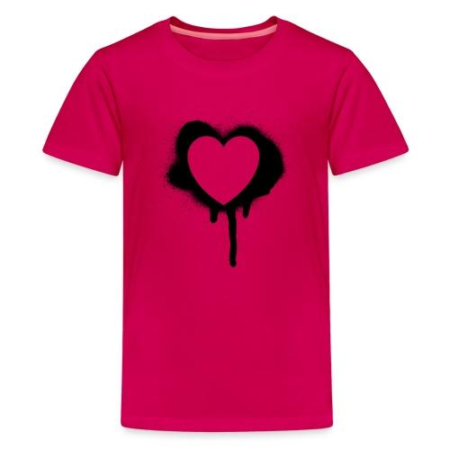 graffiti valentine's day heart - Kids' Premium T-Shirt