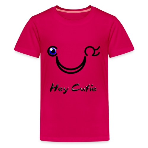 Hey Cutie Blue Eye Wink - Kids' Premium T-Shirt