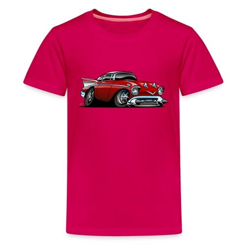 Classic American 57 Hot Rod Cartoon - Kids' Premium T-Shirt