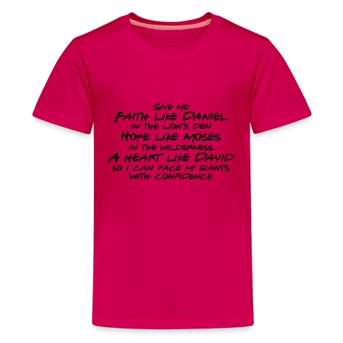 Face Your Giants with Confidence - Kids' Premium T-Shirt