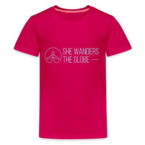 She Wanders the Globe - Kids' Premium T-Shirt