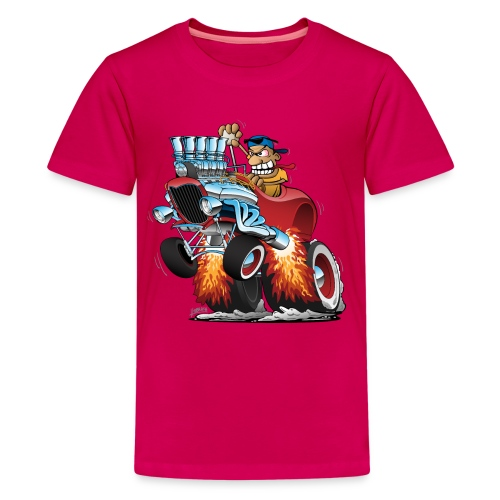 Highboy Hot Rod Race Car Cartoon - Kids' Premium T-Shirt