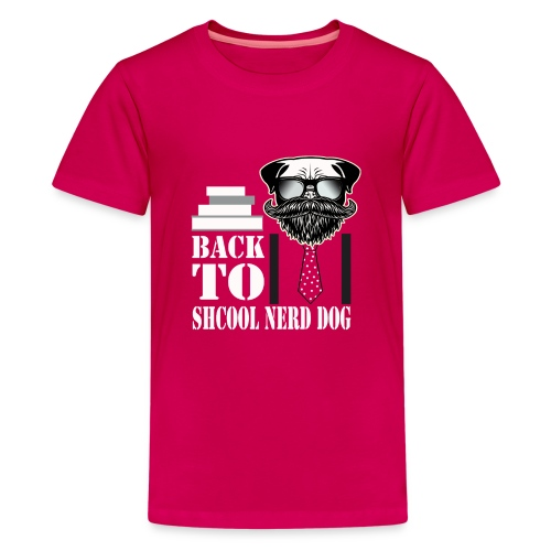back to shcool nerd dog - Kids' Premium T-Shirt